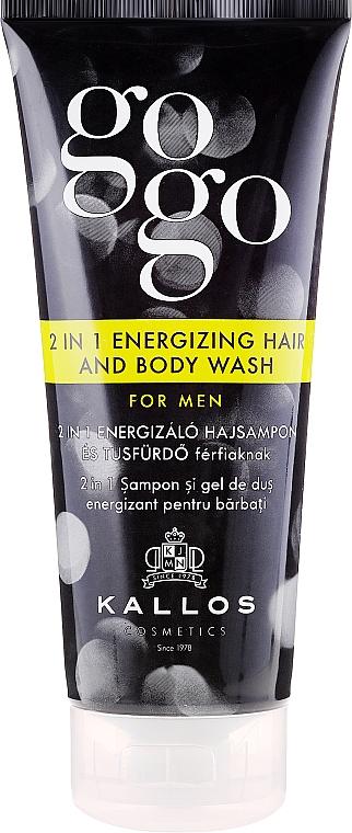 2-in-1 Shampoo & Duschgel für Männer - Kallos Cosmetics Go-Go 2-in-1 Energizing Hair And Body Wash For Men