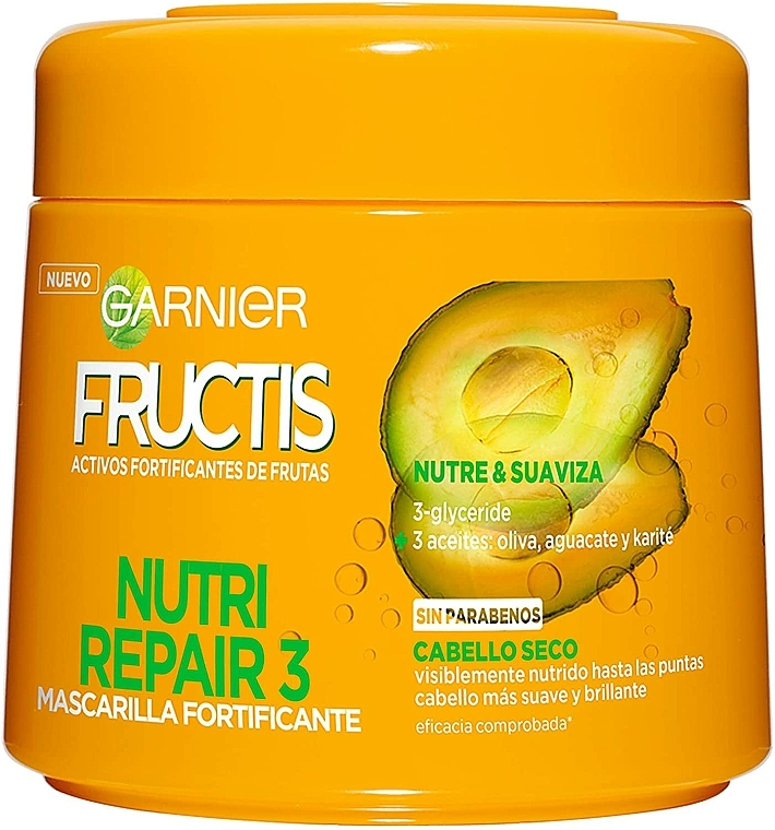 Regenerierende Haarmaske - Garnier Fructis Triple Nutrition — Bild N1
