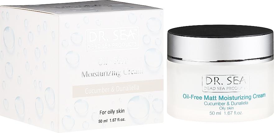 Mattierende und feuchtigkeitsspendende Gesichtscreme mit Gurkenextrakt und Dunaliella - Dr. Sea Oil-Free Matt Moisturizing Cream — Bild N1