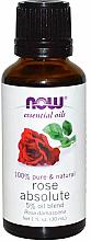 Düfte, Parfümerie und Kosmetik Ätherisches Rosenöl 5% verdünnt in reines Jojobaöl - Now Foods Essential Oils 100% Pure Rose Absolute