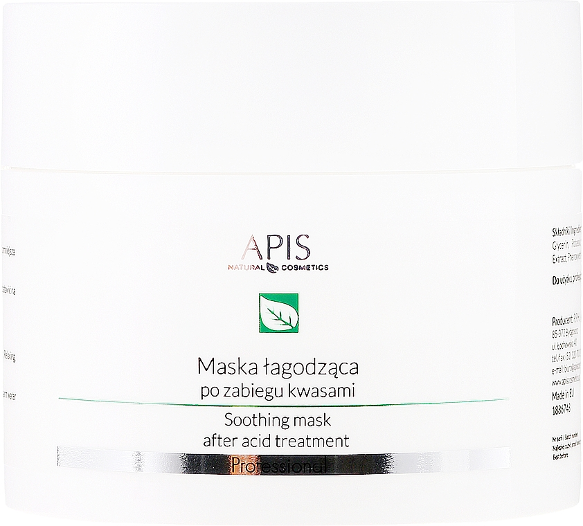 Beruhigende Gesichtsmaske nach Säurebehandlung - APIS Professional Exfoliation Soothing Mask After Acid Treatment