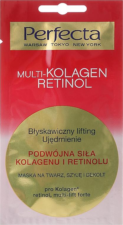 Gesichts-, Hals- und Dekolletémaske mit Liftingeffekt - Perfecta Multi-Kolagen Retinol