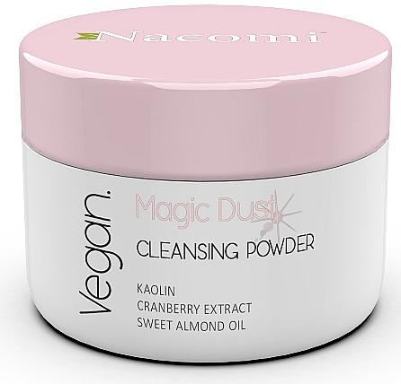 Aufhellendes Gesichtsreinigungspuder mit Moosbeeren, Kaolin und süßem Mandelöl - Nacomi Face Cleansing & Brightening Powder Magic Dust