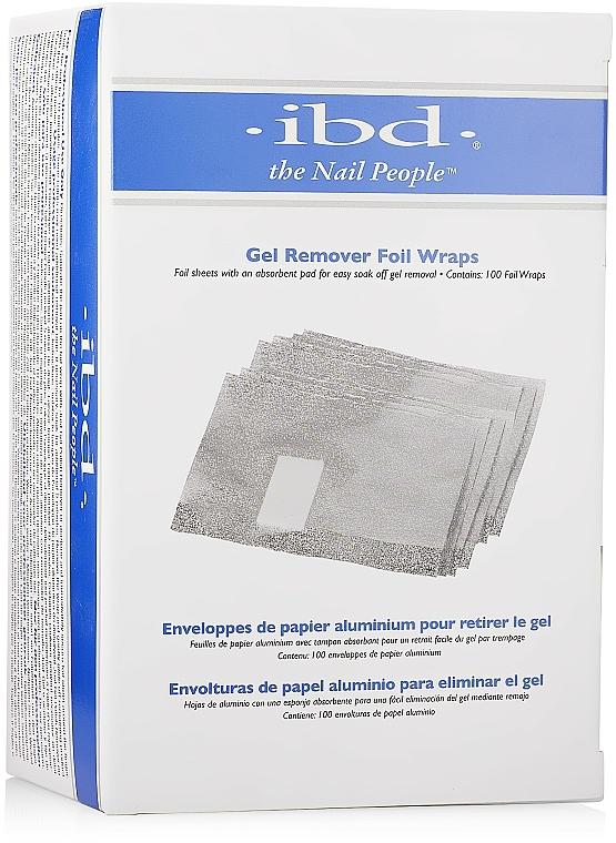 Folien zum Entfernen von Gel Nagellack 100 St. - IBD Just Gel Remover Foil Wraps