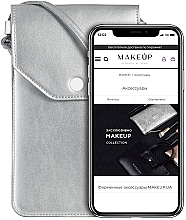 Düfte, Parfümerie und Kosmetik Handytasche zum Umhängen Cross Silber - Makeup Phone Case Crossbody Silver