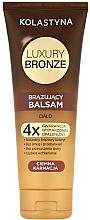 Düfte, Parfümerie und Kosmetik Bräunungsbalsam für dunkle Haut - Kolastyna Luxury Bronze Tanning Balm