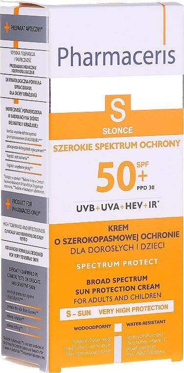Sonnenschutzcreme für das Gesicht SPF 50+ - Pharmaceris S Broad Spectrum Sun Protect Cream SPF50