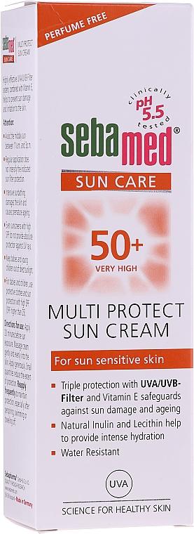 Regenerierende und feuchtigkeitsspendende Sonnenschutzcreme für das Gesicht SPF 50 - Sebamed Multi Protect Sun Cream SPF 50 — Bild N2
