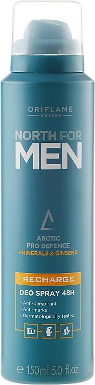 Deospray Antitranspirant - Oriflame North For Men Recharge Deo Spray — Bild N1
