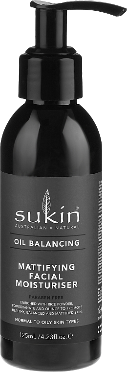 Feuchtigkeitsspendende und mattierende Gesichtsemulsion - Sukin Oil Balancing Mattifying Facial Moisturiser