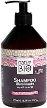 Düfte, Parfümerie und Kosmetik Aufhellendes Shampoo für gefärbtes Haar mit Acai-Beere und Granatapfel - Renee Blanche Natur Green Bio Illuminante Shampoo Acai and Pomegranate