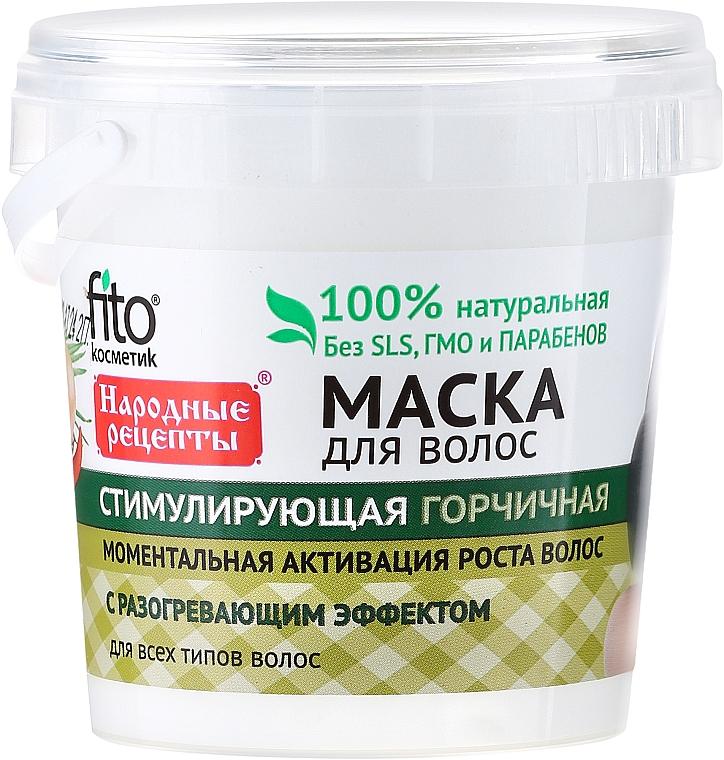 Stimulierende Haarmaske mit Senf für jeden Haartyp - Fito Kosmetik