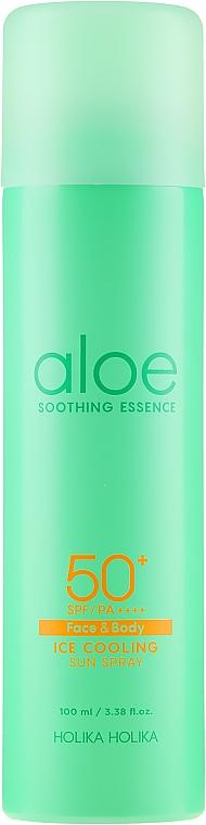 Sonnenschutzspray mit Kühleffekt für Gesicht und Körper SPF 50 - Holika Holika Aloe Ice Cooling Sun Spray SPF50+