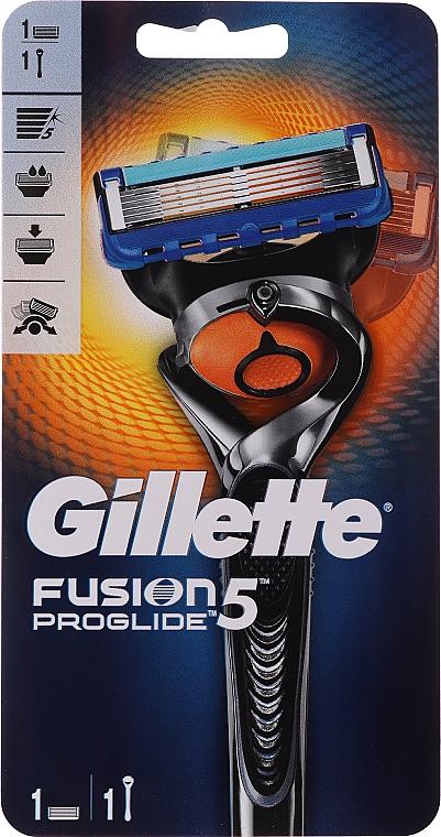 Gillette Fusion Power Rasierer mit 1 Ersatzklinge - Gillette Fusion ProGlide Flexball