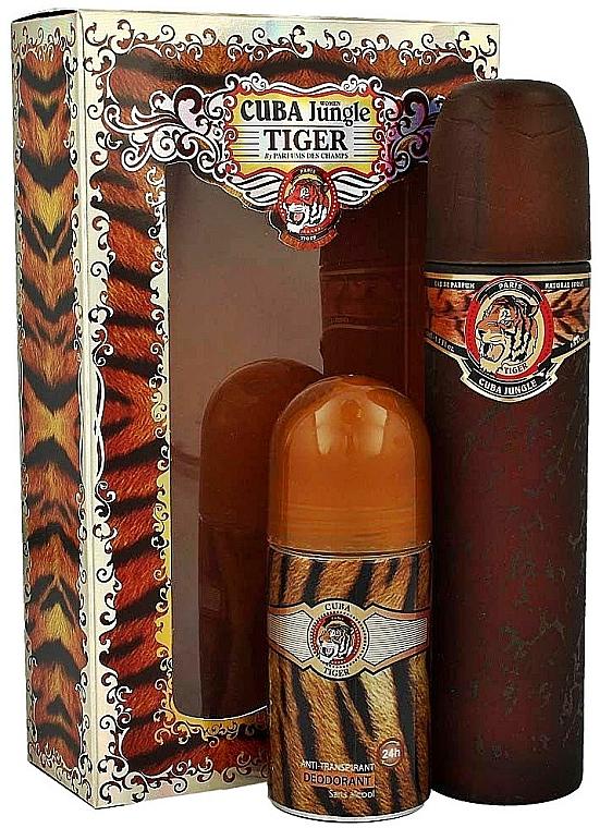 Cuba Jungle Tiger - Duftset (Eau de Parfum/100ml + Deodorant/50ml)