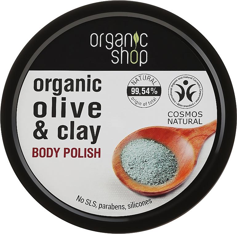 Körperpeeling mit Bio Olivenöl und Tonerde - Organic Shop Body Scrub Organic Olive & Clay
