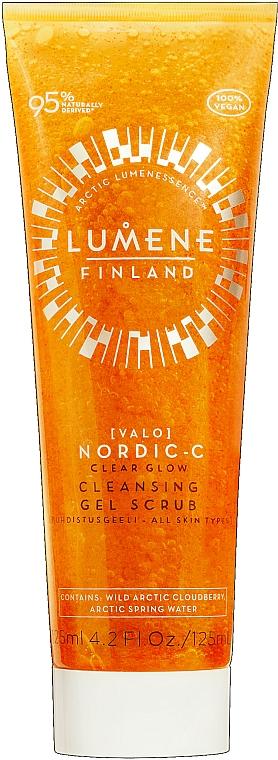 Reinigendes Gesichtsgel-Peeling für strahlende Haut - Lumene Valo Nordic-C Clear Glow Cleansing Gel Scrub