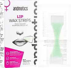 Düfte, Parfümerie und Kosmetik Set Enthaarungsstreifen für die Oberlippe für Damen - Andmetics Lip Wax Strips Women (strips/8x2pc + wipes/4pc)