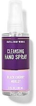Düfte, Parfümerie und Kosmetik Handreinigungsspray Schwarzkirsche-Merlot - Bath And Body Works Cleansing Hand Spray Black Cherry Merlot
