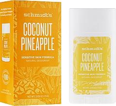 Düfte, Parfümerie und Kosmetik Natürlicher Deostick für empfindliche Haut - Schmidt's Natural Deodorant Coconut Pineapple