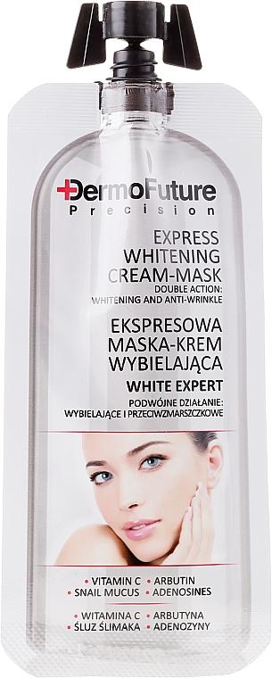 Aufhellende Gesichtscreme-Maske mit Vitamin C und Schneckenschleim-Extrakt - Dermofuture White Expert Cream-mask