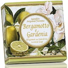 Düfte, Parfümerie und Kosmetik Naturseife Bergamotte und Gardenie - Saponificio Artigianale Fiorentino Capri Bergamot & Gardenia Soap