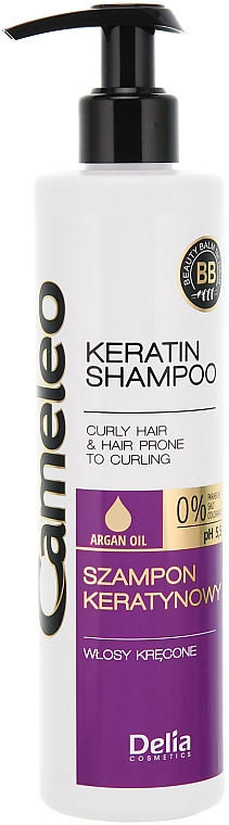 Keratin Shampoo für lockiges Haar - Delia Cameleo Shampoo
