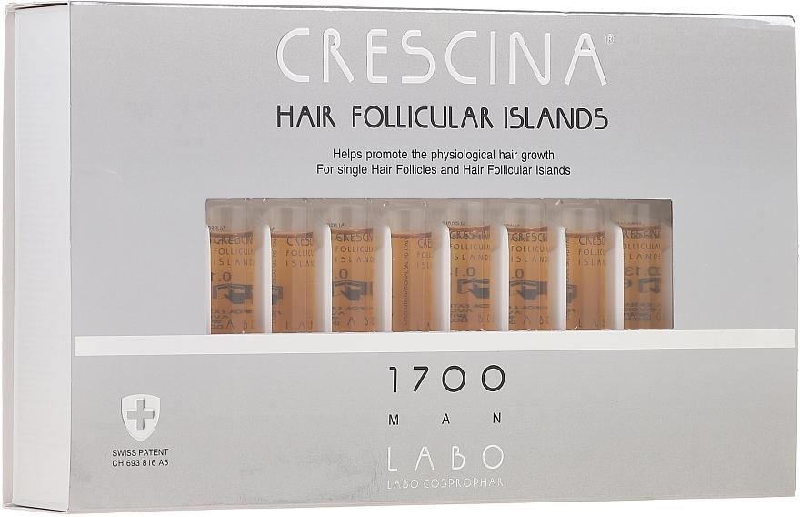 Haarwuchs stimulierende Ampullen für Männer 1700 - Crescina Hair Follicular Islands Re-Growth 1700