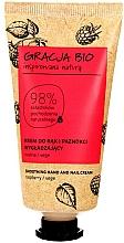 Düfte, Parfümerie und Kosmetik Glättende Hand- und Nagelcreme mit Bio Himbeerextrakt - Gracja Bio Raspberry Hand And Nail Cream