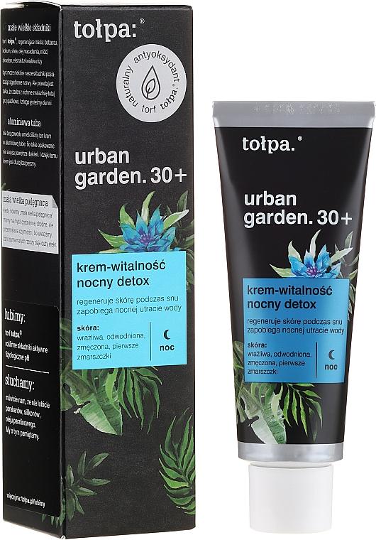 Regenerierende Detox Nachtcreme 30+ - Tolpa Urban Garden 30+ Detox Night Cream