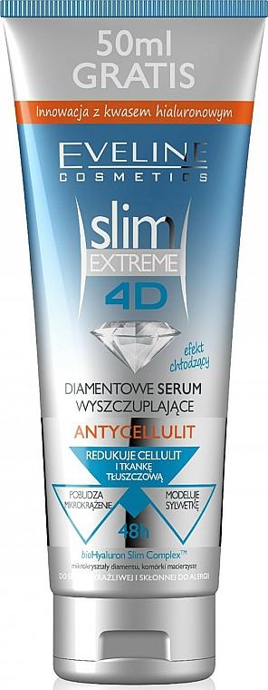 Anti-Cellulite Körperserum zum Abnehmen mit Diamantpartikeln und Hyaluronsäure - Eveline Cosmetics Slim Extreme 4D Anti-Cellulite Diamond Slimming Serum