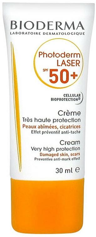 Sonnenschutzcreme für geschädigte Gesichtshaut SPF 50+ - Bioderma Photoderm Laser SPF 50+ Cream Very High Protection — Bild N2