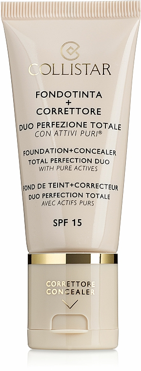 Foundation - Collistar Foundation + Concealer Total Perfection Duo
