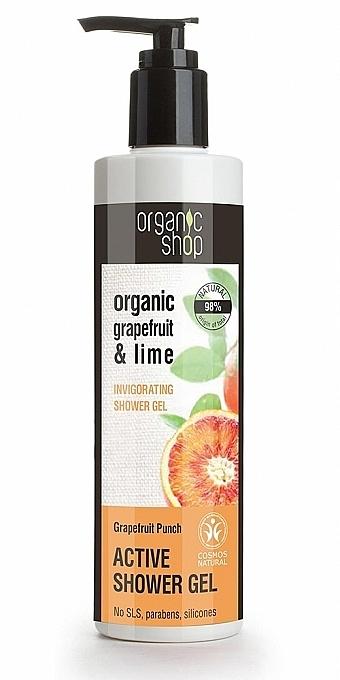 Duschgel mit Bio Grapefruit- und Limettenextrakt - Organic Shop Organic Grapefruit and Lime Active Shower Gel — Bild N1