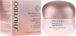 Düfte, Parfümerie und Kosmetik Schützende Tagescreme für reife Haut SPF 15 - Shiseido Benefiance NutriPerfect Day Cream SPF 15