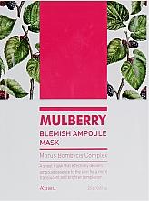 Düfte, Parfümerie und Kosmetik Ampulle-Maske für das Gesicht mit Maulbeeren-Komplex - A'pieu Mulberry Blemish Ampoule Mask