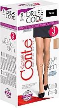 Düfte, Parfümerie und Kosmetik Strumpfhose für Damen Dress Code 8 Den Nero 3 St. - Conte