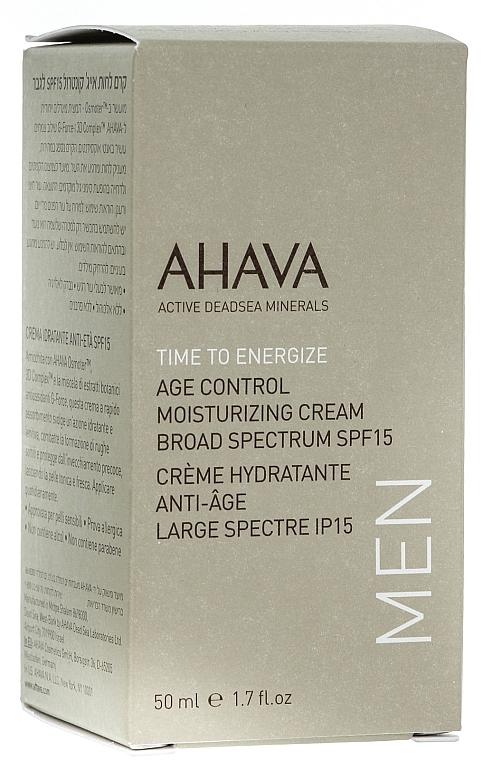 Feuchtigkeitsspendende Anti-Aging Gesichtscreme für Männer SPF 15 - Ahava Age Control Moisturizing Cream SPF15