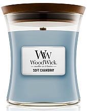 Düfte, Parfümerie und Kosmetik Duftkerze im Glas Soft Chambray - WoodWick Hourglass Candle Soft Chambray