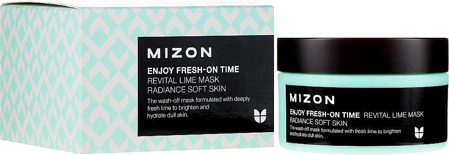 Feuchtigkeitsspendende und aufhellende Gesichtsmaske mit Limettenextrakt - Mizon Enjoy Fresh On-Time Mask Revital Lime Mask