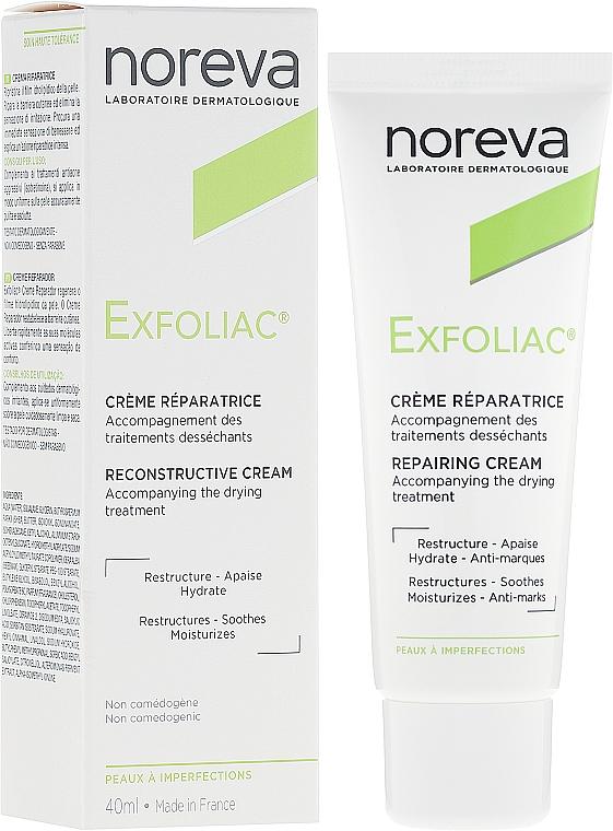 Regenerierende und feuchtigkeitsspendende Gesichtscreme - Noreva Laboratoires Exfoliac Cream Reparatrice