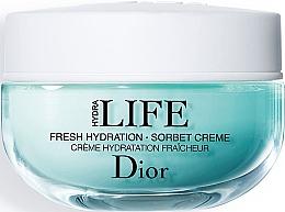 Düfte, Parfümerie und Kosmetik Tief feuchtigkeitsspendende Gesichtscreme mit Malven- und Haberleablätterextrakt - Dior Hydra Life Fresh Hydration Sorbet Creme