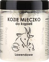 Düfte, Parfümerie und Kosmetik Natürliches Ziegenmilchbad mit ätherischem Lavendelöl - E-Fiore Lavender Natural Goat's Bath Milk