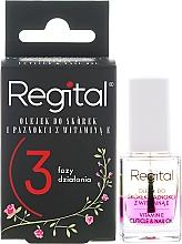 Düfte, Parfümerie und Kosmetik Dreiphasiges Nagel- und Nagelhautöl mit Vitamin E - Regital Three-phase Cuticle And Nail Oil