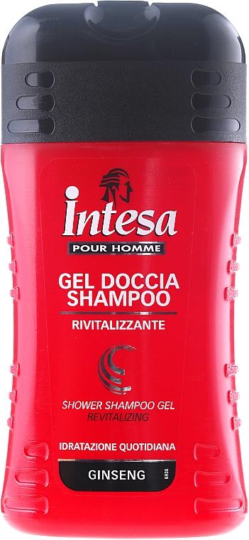 Duschgel und Shampoo mit Ginseng - Intesa Classic Black Shower Shampoo Gel Revitalizing