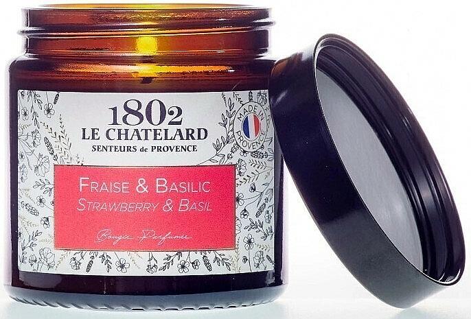 Duftkerze Erdbeere & Basilikum - Le Chatelard 1802 Strawberry & Basil Scented Candle — Bild N1