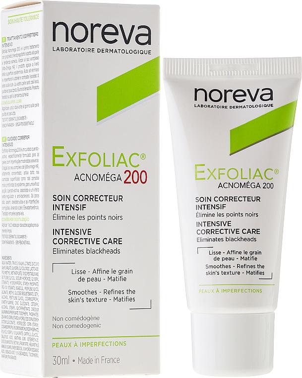 Mattierende und keratoregulierende Gesichtscreme für unreine und zu Akne neigende Haut - Noreva Laboratoires Exfoliac Acnomega