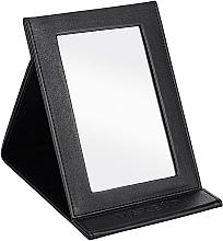 Düfte, Parfümerie und Kosmetik Klappbarer kosmetischer Taschenspiegel schwarz - MakeUp Tabletop Cosmetic Mirror Black