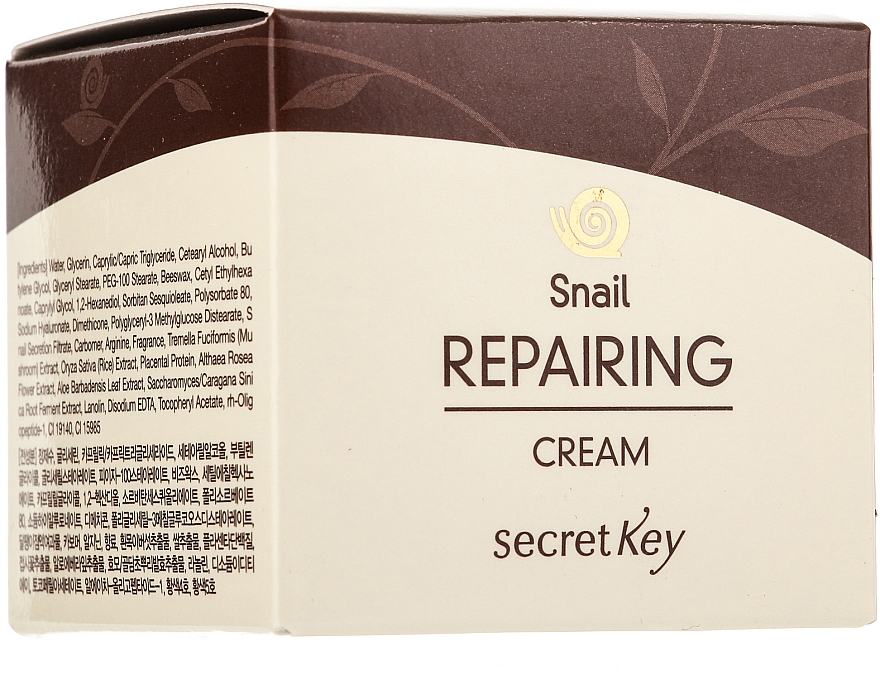 Regenerierende Gesichtscreme mit Schneckenextrakt und epidermalem Wachstumsfaktor - Secret Key Snail + EGF Repairing Cream