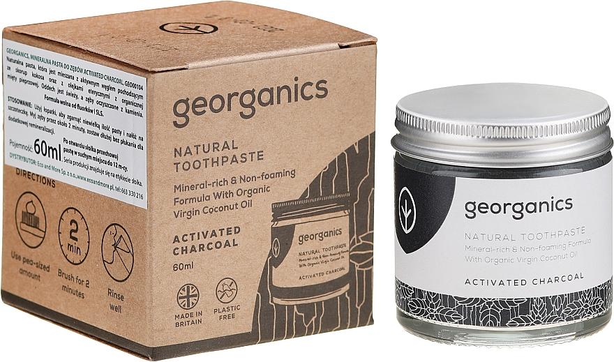 Natürliche und mineralstoffreiche Zahnpasta mit Aktivkohle - Georganics Activated Charcoal Natural Toothpaste
